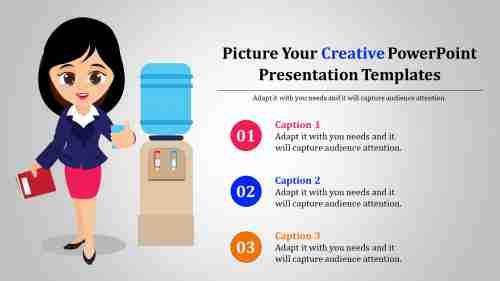 creative powerpoint presentation template - humans