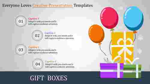 Creative presentation template uses