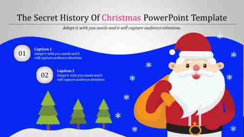 Christmas powerpoint template with light grey background
