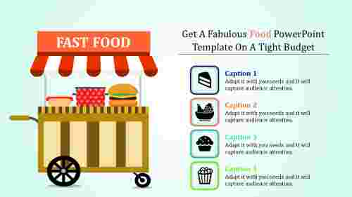 food powerpoint template - fast food model