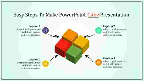 powerpoint cube template - diamond shape