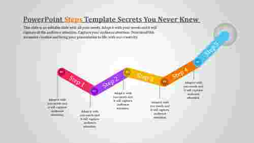 powerpoint steps template - upward direction