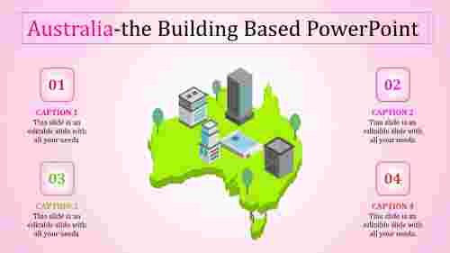 australia ppt template-Australia-The Building based Powerpoint