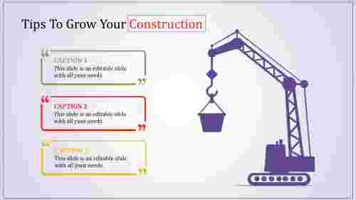 Three levels construction powerpoint templates