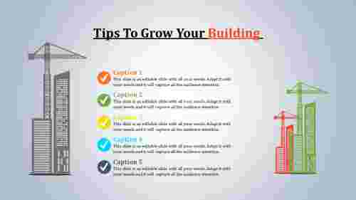 Building presentation for industry