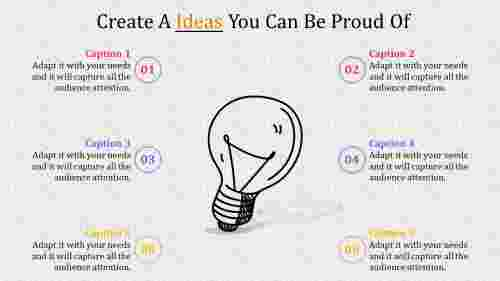 Bulb diagrammed powerpoint presentation ideas