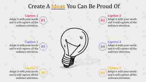 Bulb diagrammed powerpoint presentation ideas