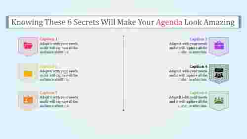 Summary  powerpoint agenda template