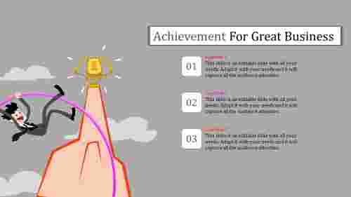 Achievementslidetemplatewithillustration