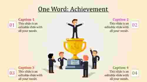 achievement slide template-One Word-Achievement