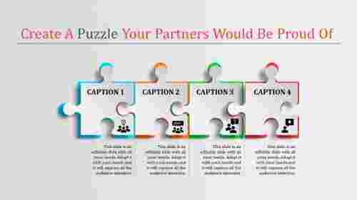 puzzle in powerpoint - four puzzle pieces