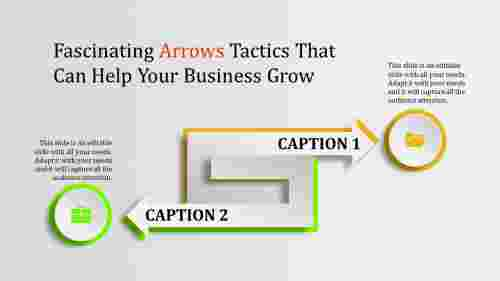 arrows powerpoint templates - green and orange