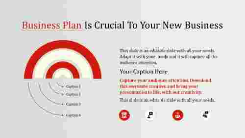 business plan template powerpoint - semicircle