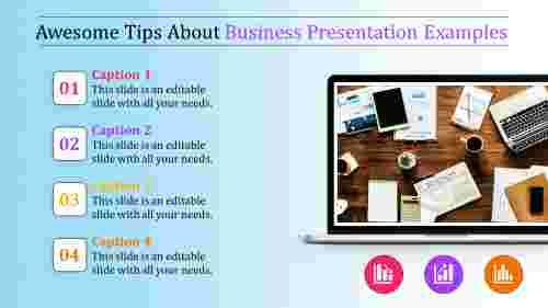 business presentation examples - four stages