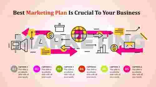 best marketing plan template - arrows