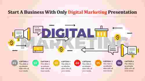 Digital Marketing Presentation Powerpoint Model