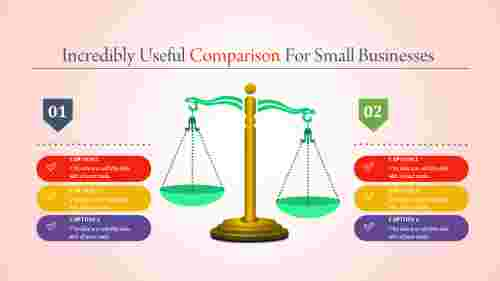 comparison powerpoint template - weight balance