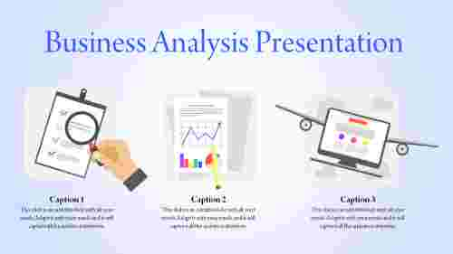 business analysis presentation template - graphs