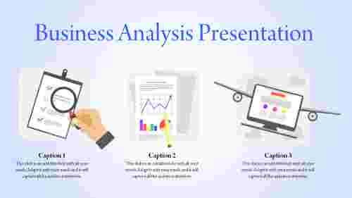 business analysis presentation template - graphs