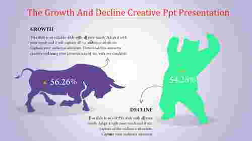 Creative PPT presentation in decline design
