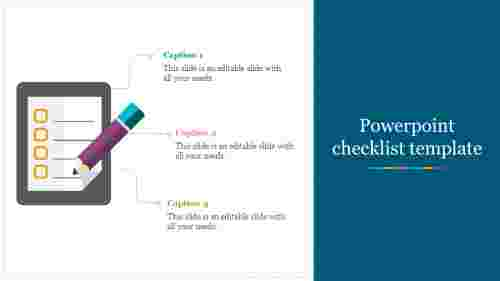 PowerPoint checklist template layout