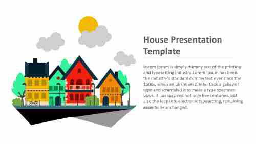 house presentation template slide for customers