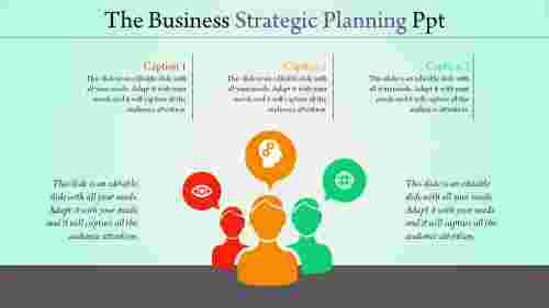 strategic planning powerpoint silhoutes