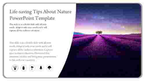 A one noded nature powerpoint template