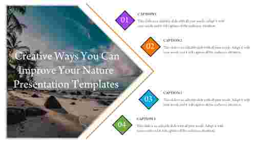 A four noded nature presentation templates