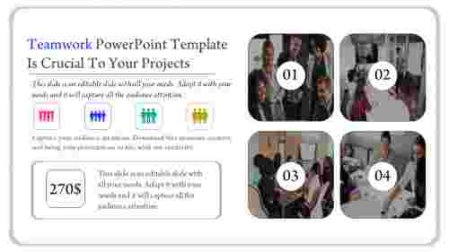 Teamwork powerpoint template with icons