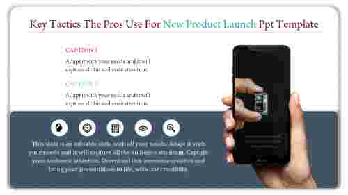A two noded new product launch ppt template