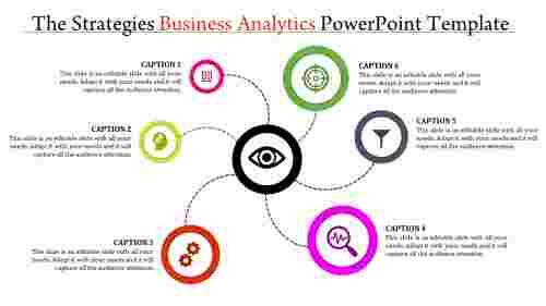 A six noded business analytics powerpoint template