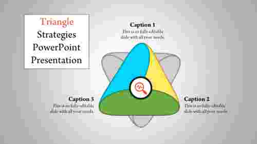 A three noded triangle powerpoint template