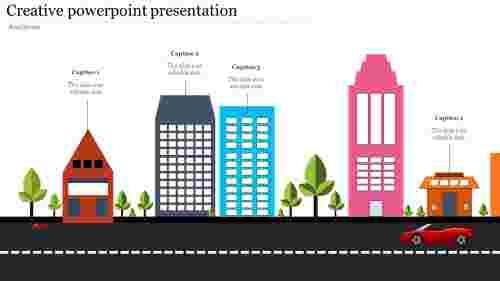 Building creative powerpoint presentation