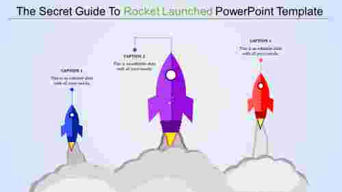 A three noded rocket launched powerpoint template