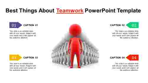 Teamwork powerpoint template - Four Segments