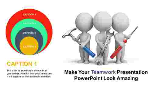 Circle Teamwork presentation powerpoint