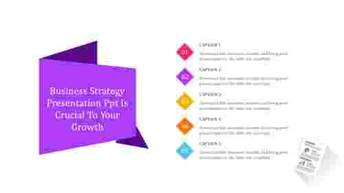 A five noded business strategy presentation ppt