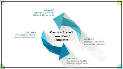 Crushed arrows powerpoint templates