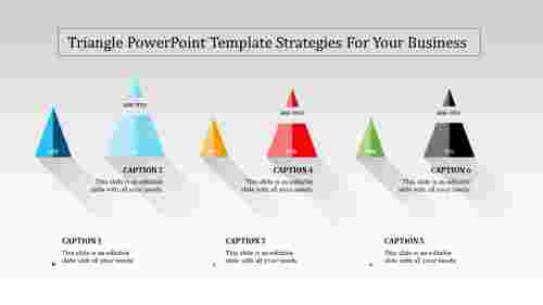 A six noded triangle powerpoint template