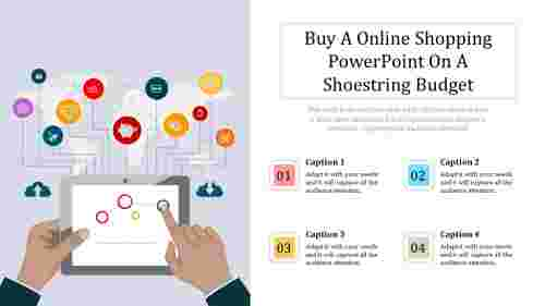 A four noded online shopping powerpoint