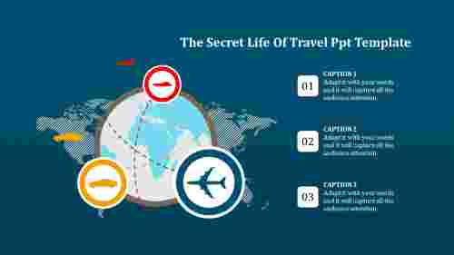 travel ppt template-The Secret Life Of Travel Ppt Template