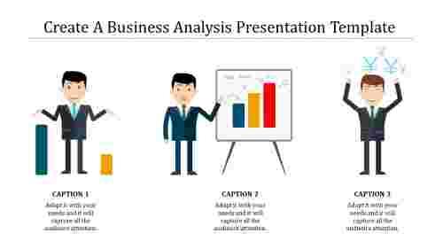 A three noded business analysis presentation templat