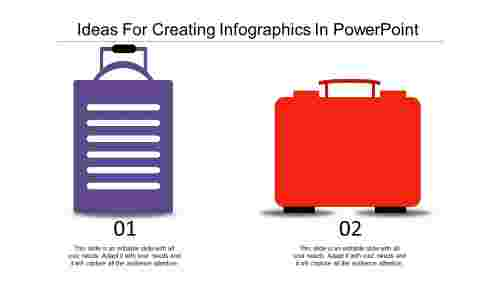 Creating infographics in powerpoint-Fashionable Bag Shaped