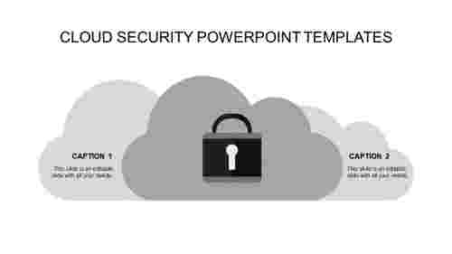 security powerpoint templates-cloud security powerpoint templates-gray