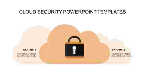 security powerpoint templates-cloud security powerpoint templates-orange