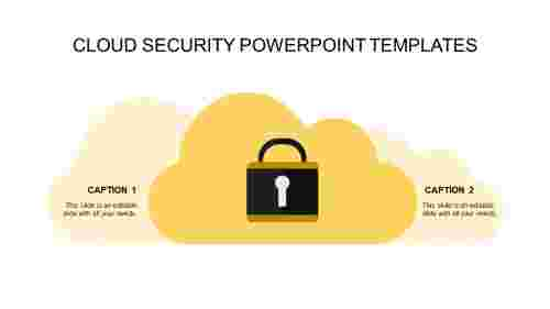 security powerpoint templates-cloud security powerpoint templates-yellow