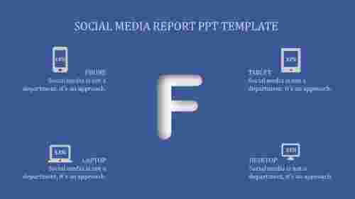 Report ppt template for Social Media