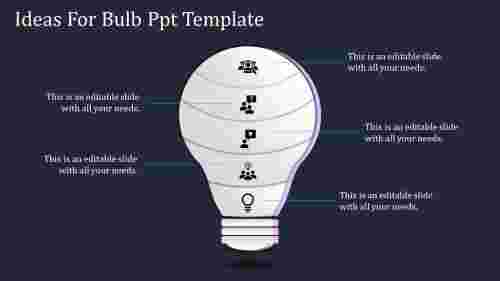 A five noded bulb PPT template
