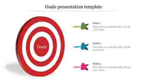 Business Goals Presentation Template With Bulls eye